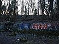 Graffiti next the White Cart - geograph.org.uk - 1741260.jpg