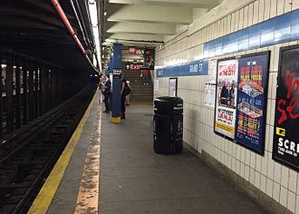 Grand Street (IND Sixth Avenue Line) - Image: Grand Street Platform