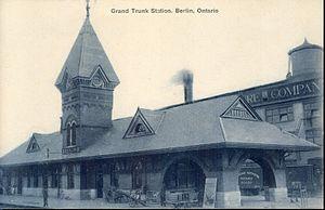 Kitchener railway station - Postcard of GTR station