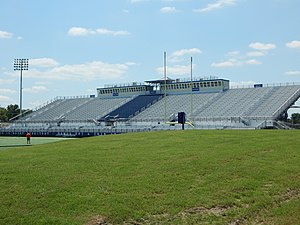 Houston Baptist Huskies - Image: Grandstands from the berm, Husky Stadium Football