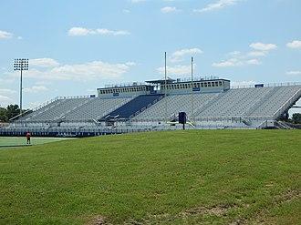 Houston Baptist Huskies - Image: Grandstands from the berm, Husky Stadium Football