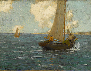 Granville Redmond - Sailboats on calm seas.jpg