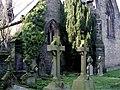 Gravestones, Little Crosby Church - geograph.org.uk - 332970.jpg