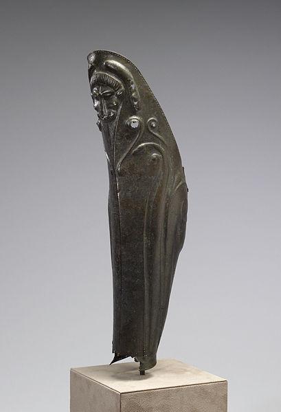 Bronze Hoplite Greave (Angle)