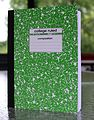 Green Soft-Covered Composition Notebook (14822730560).jpg