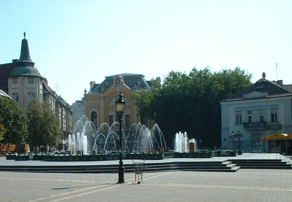 Green fountain in Subotica