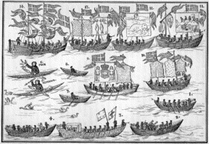 1724 in Denmark - The Greenland Parade in Copenhagen on 9 November