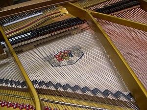 Grotrian-Steinweg - Grotrian-Steinweg grand piano inner mechanism