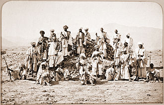 Afridi - Afridi fighters photographed by John Burke in 1878