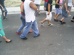 https://upload.wikimedia.org/wikipedia/commons/thumb/6/65/Group_of_people_walking_down_the_street.jpg/256px-Group_of_people_walking_down_the_street.jpg