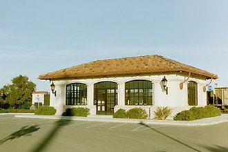 Guadalupe station - Guadalupe station building in 2001