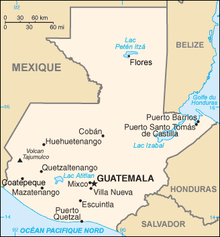 Description de l'image Guatemala carte.png.