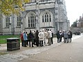 Guided tour at Winchester Cathedral - geograph.org.uk - 1546431.jpg