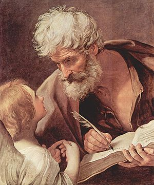 Saint Matthew the Evangelist and an Angel