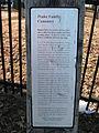 Gum Springs - Peake Family Cemetery marker.jpg