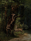 Gustave Courbet - Deer in the Forest - Google Art Project.jpg