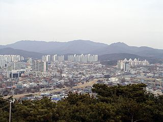 Gwanggyosan mountain in South Korea