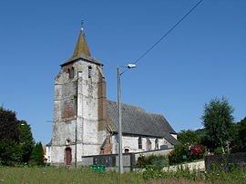 The church of Hézecques