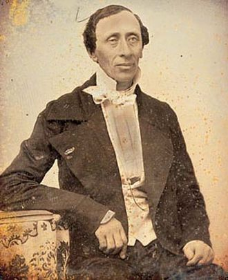 Photography in Denmark - Frederik Ferdinand Petersen: Daguerreotype of Hans Christian Andersen (1847)