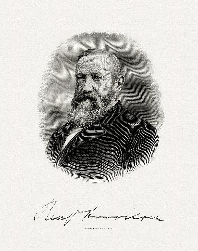 File Harrison Benjamin President Bep Engraved Portrait