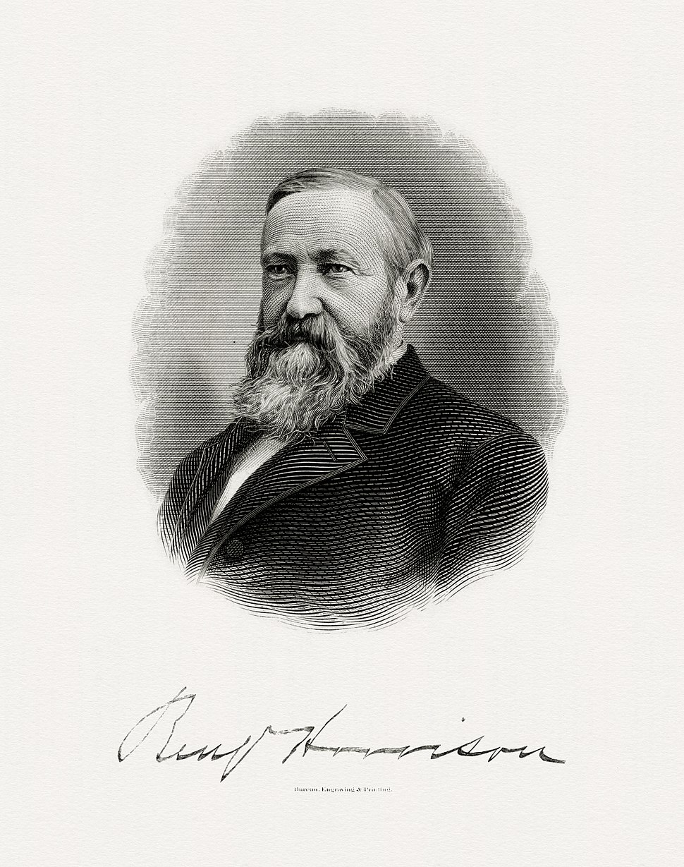 HARRISON, Benjamin-President (BEP engraved portrait)