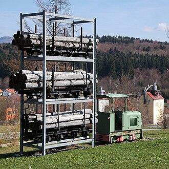 Spiegelau Forest Railway - Memorial in Spiegelau