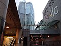 HK 中環 Central evening January 2019 SSG Finance Street IFC mall sign.jpg