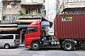 HK 西環 Sai Ying Pun 皇后大道西 Queen's Road West GK17 420 red container cargo Dec-2017 IX1.jpg