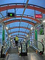 HK SYP Centre Street evening Escalators sign n interior visitor Mar-2014.JPG