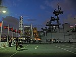 HK TST Ocean Terminal 美國海軍 好人理查號 航空母艦 USS Bon Homme Richard CV-31 n Flags visitors.JPG
