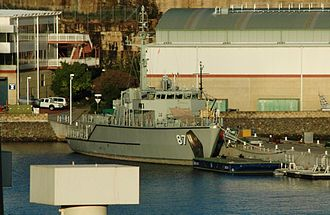 HMAS Waterhen (naval base) - Image: HMAS Yarra at Waterhen