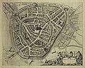HUA-210004-Plattegrond van de stad Amersfoort met weergave van percelen het stratenplan met straatnamen bebouwing en bomen in opstand watergangen verdedigingswer.jpg