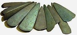 Haches pierre polie