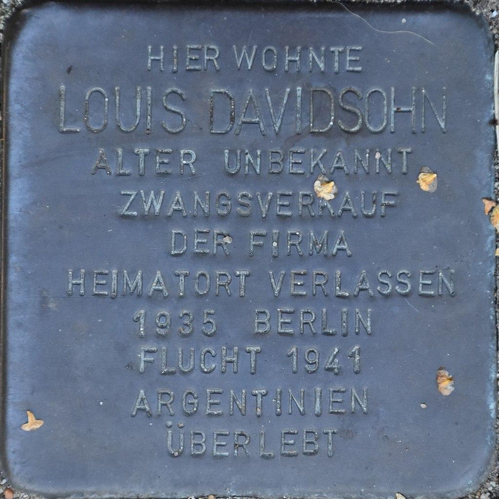 Hagenow Stolperstein Parkstraße 33 Davidsohn, Louis