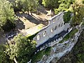 Hall Ruins, Karlsburg at River Main, Germany, Air View.jpg
