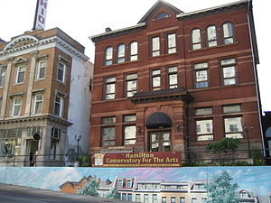 Culture of Hamilton, Ontario - Hamilton Conservatory for the Arts Building, James Street South