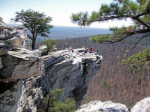 Hanging Rock State Park - Enjoying the view from Hanging Rock State Park
