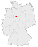 Location of Hanover in Germany