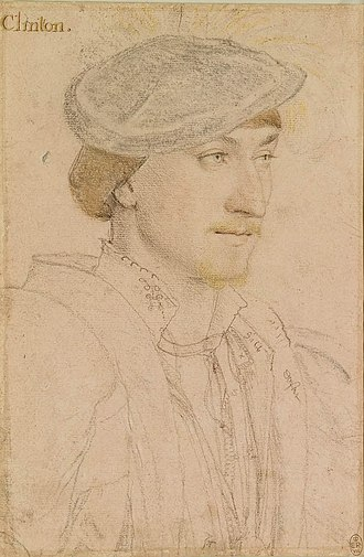 Lord-Lieutenant of Lincolnshire - Image: Hans Holbein the Younger Edward Fiennes de Clinton, 9th Lord Clinton, 1st Earl of Lincoln RL 12198