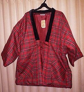 traditional Japanese short winter coat