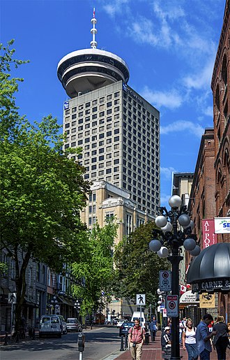 Harbour Centre - Harbour Centre from Gastown