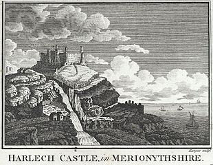 Harlech Castle, in Merionythshire