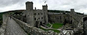 Harlech Castle - Image: Harlech Castle Panorama