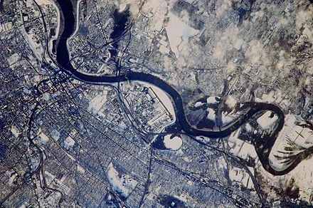 Photograph of Hartford taken from the International Space Station (ISS) Hartford Connecticut.jpg
