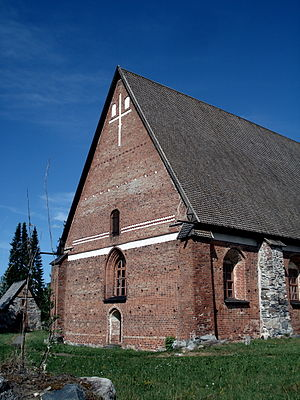 Parola - Holy Cross Church near Parola, built in the 14th century