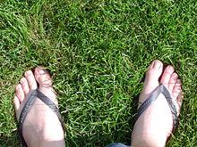 Nohy nazuté v žabkách 9b4827cda8b