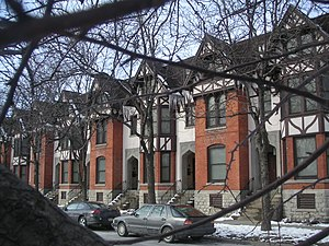 Hawley–Green Historic District - Rowhouses along Hawley Ave. in the Hawley–Green Neighborhood