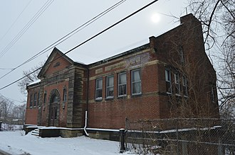 Hazelwood Branch of the Carnegie Library of Pittsburgh - Front and northern side