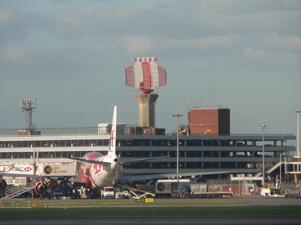 Heathrow Airport radar tower P1180333