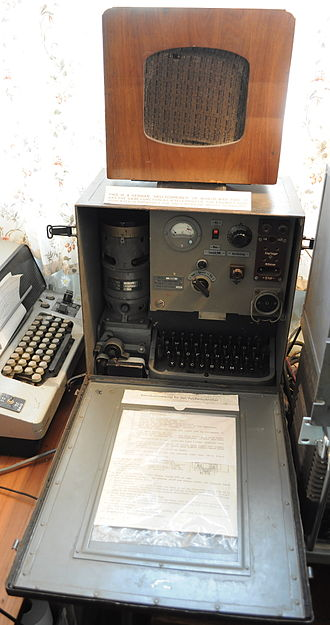 Hellschreiber - Hellschreiber believed to be the last operational unit on display at Bletchley Park, United Kingdom (March 2010)